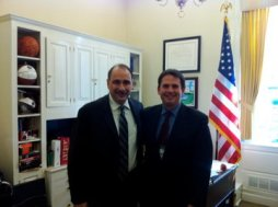 Joe With Senior Advisor David Axelrod in his West Wing Office. '